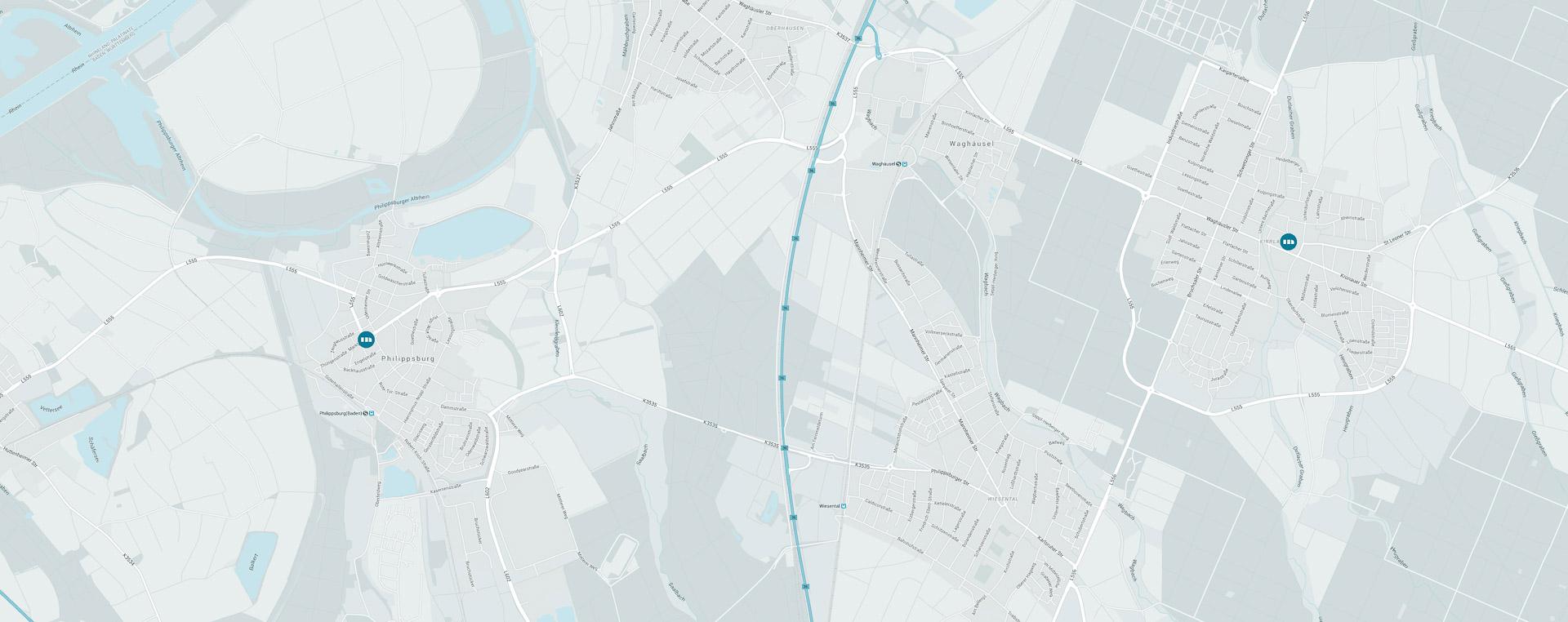Zwei Standort in ihrer Nähe, in Philippsburg und Waghäusel